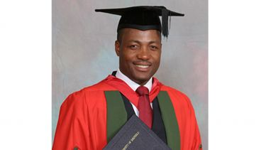 A photo of Brian Lara at their graduation ceremony - image