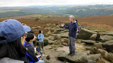 Professor Anna Jorgensen gives a lecture in the Peak District