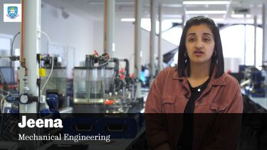 Mechanical Engineering undergraduate student Jeena