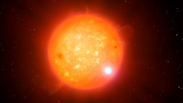 Artist's impression of a binary star