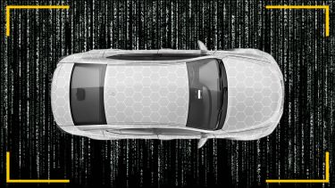 Autonomous car top view