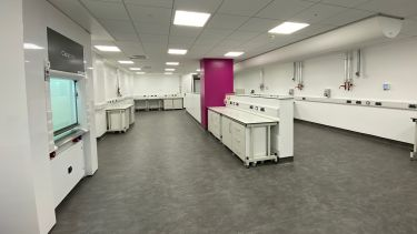 A photo of one of the labs inside the Royce Discovery Centre