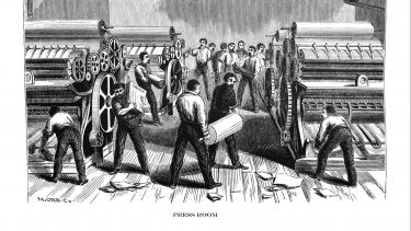 First Century United States illustrations - 1873 - Printing press room