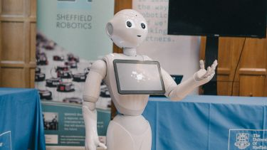 A robot produced by Sheffield Robotics