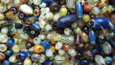 Ancient beads of various colours