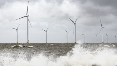 Photo of off shore wind turbines
