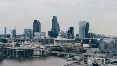 View of canary wharf, London