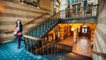 The main staircase inside Firth Court