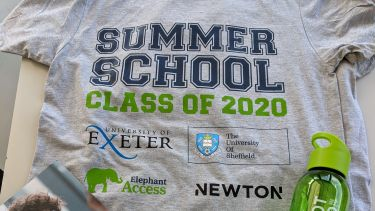 The Elephant Group summer school t-shirt