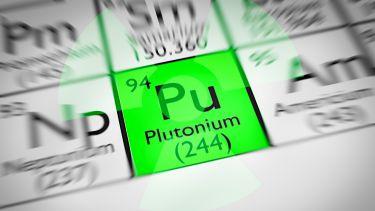A picture of the periodic table with the symbol for plutonium highlighted.