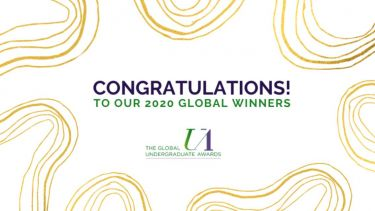 Congratulations banner for The Global Undergraduate Awards 2020