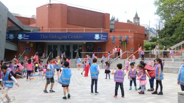 Confucius Summer School pupils outside of the Octagon Centre