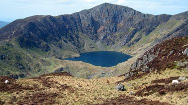 Cadair Idris, a cirque in Wales.