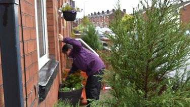 The four-year research project added ornamental plants to previously bare front gardens in economically deprived streets of Salford (Image: Anna Da Silva / RHS images)