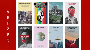 Series of bookcovers of the Strangers Press Chapbook series Verzet