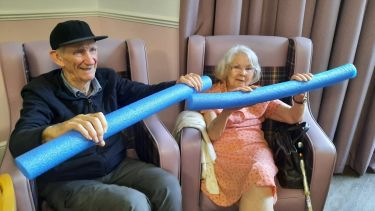 care home residents exercise