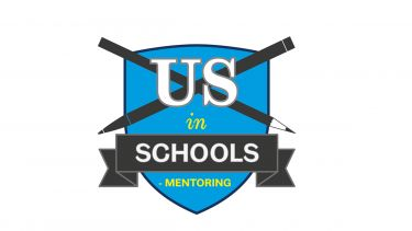 "A graphic reading ""US in Schools Mentoring"""