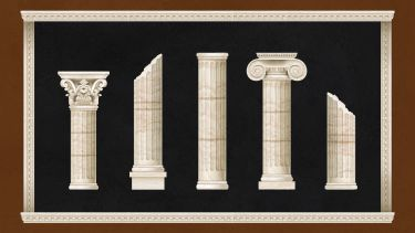 Greek pillars graphic