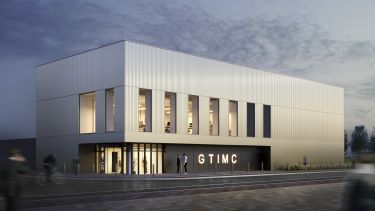 Artist impression of the new Gene Therapy Innovation Manufacturing Centre