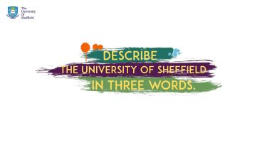 Screenshot of the describe Sheffield in three words video