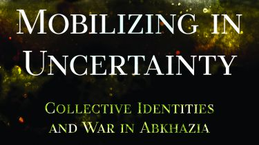 Book cover for Dr Anastasia Shesterinina's book 'Mobilizing in Uncertainty'.
