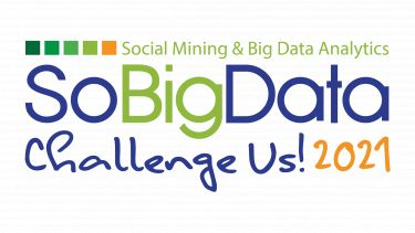 Text reads. Social Mining and Big Data Analytics. So Big Data. Challenge Us! 2021