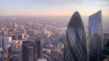 View of skyscrapers in the City of London