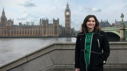 Work experience student stood outside westminster