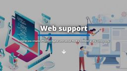 the web support homepage