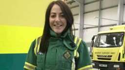 Journalism graduate Sarah Whittle in her job with the North West Ambulance Service