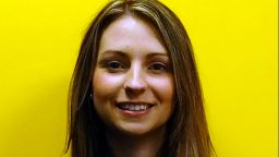 A profile image of Rachael Batteson smiling in front of a yellow background