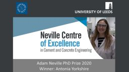 Dr Antonia Yorkshire receives the Adam Neville PhD 2020 award